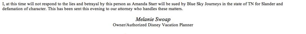 Melanie I Will Not Respond